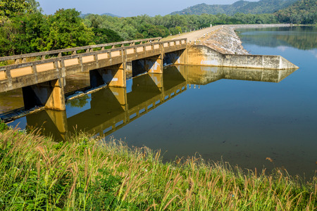 ChiangMai, Thailand. December, 13-2016: The available quantity of water has been reserved at the irrigation dam as the reasons of needing for agricultural purposes in remote districts.