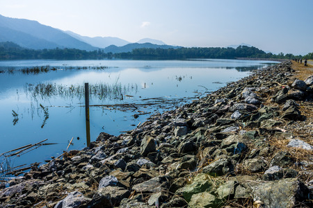 lack of water: ChiangMai, Thailand. December, 13-2016: The available quantity of water has been reserved at the irrigation dam as the reasons of needing for agricultural purposes in remote districts.