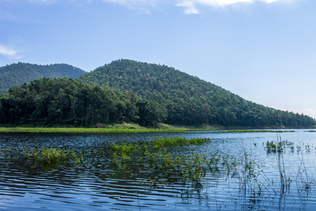 needing: ChiangMai, Thailand. December, 03-2016: The available quantity of water has been reserved at the irrigation dam as the reasons of needing for agricultural purposes in remote districts.