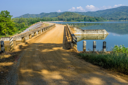 needing: ChiangMai, Thailand. December, 13-2016: The available quantity of water has been reserved at the irrigation dam as the reasons of needing for agricultural purposes in remote districts.