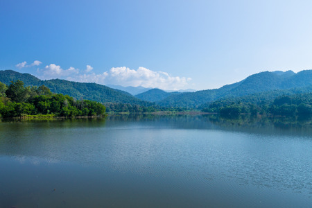 reasons: ChiangMai, Thailand. December, 13-2016: The available quantity of water has been reserved at the irrigation dam as the reasons of needing for agricultural purposes in remote districts.
