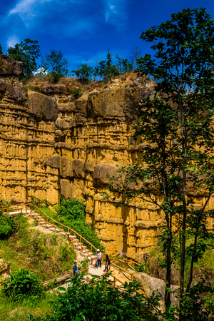 natural formation: ChiangMai, Thailand. October, 15-2016: The cliff located in remote area of Chiang Mai province was well known in name of Pha Chor.