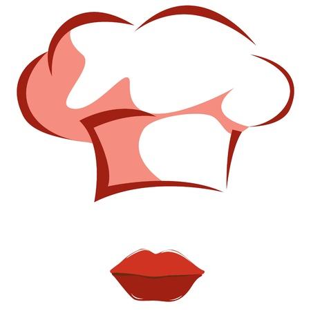 gorro chef: Mujer del cocinero
