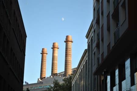 Three towers in the moonlight