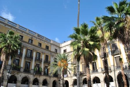 Plaza Real in barcelona Stock Photo