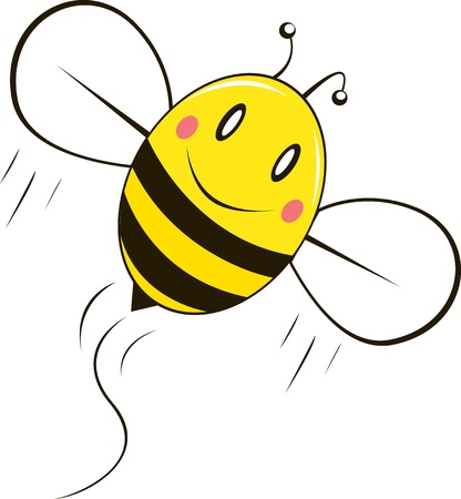 Happy bee Illustration