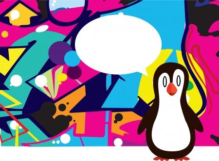 Penguin making a presentation