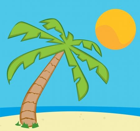 The beach Illustration