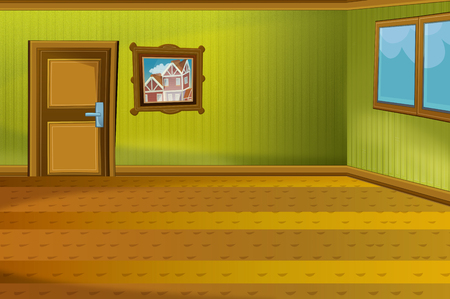 Cartoon scene of house interior - hall - illustration for children Standard-Bild - 115554028