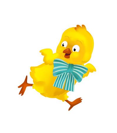 cartoon happy easter chicken on white background - illustration for the children Standard-Bild - 116715194
