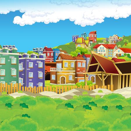 scène de dessin animé de chantier de construction pour illustration d'utilisation différente pour les enfants Banque d'images