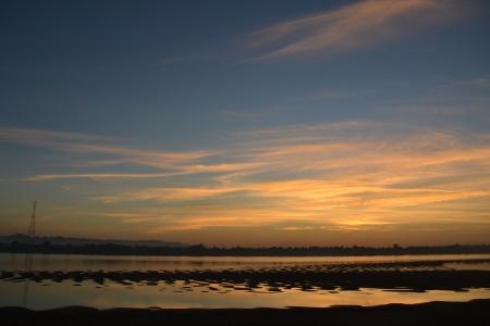 khong river: Sunrise at Khong River, Thailand-Laos