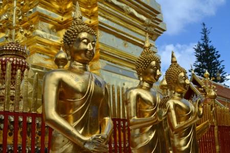 si: Buddha statues in Chiang Mai, Thailand