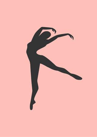 gymnasts: ballerina silhouette