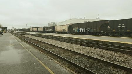 Wet train tracks