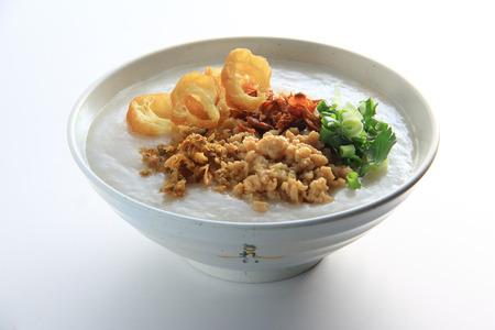 Meat Porridge With Yau Cha Kui