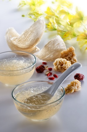 Edible Birdnest with brown rock sugar and chinese herbs