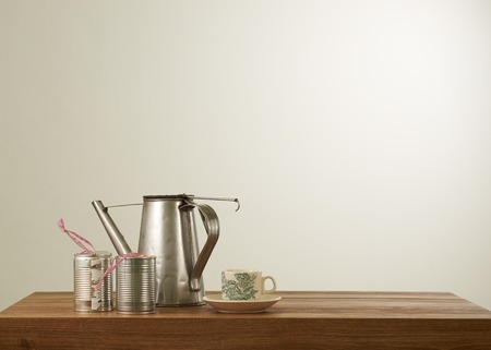 coffee pot: Nanyang style coffee set in mood lighting