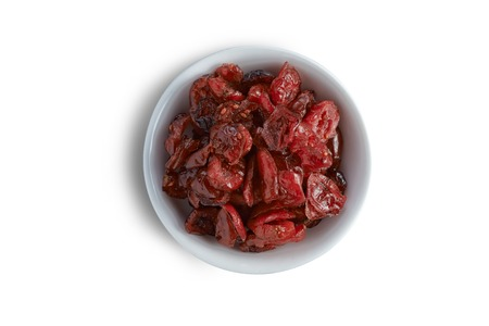 cranberry fruit: Bowl of cranberry fruit on clean background Stock Photo