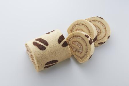 Coffee Swiss Roll cake Reklamní fotografie