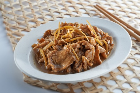 Stir Fry Meat with Ginger in oriental style Reklamní fotografie