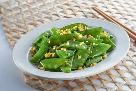 Green Bean Dish cook in oriental style.