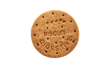 biscuits: Digestive Biscuits on clean background