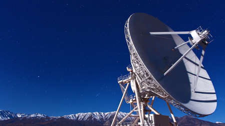 Radio telescope with blue sky Stock Photo - 15839383