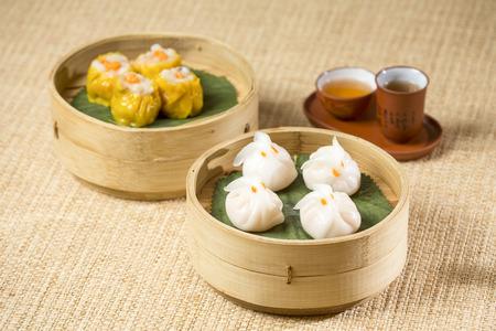 Chinese Dim Sum with tea