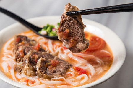 Taiwanese beef noodle soup Reklamní fotografie