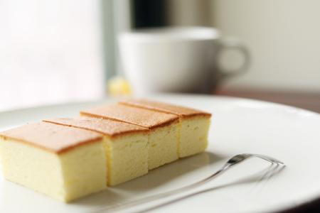 Sponge cake, selective focus Stock Photo