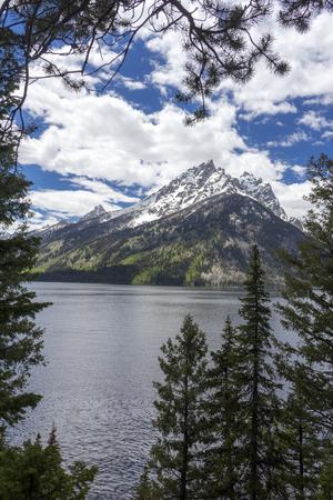 Mt. Moran at the Grand Teton National Park, Wyoming Stock Photo
