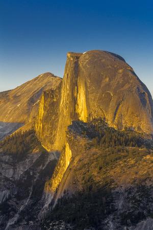 Sunset at Half Dome, Yosemite National Park Stock Photo