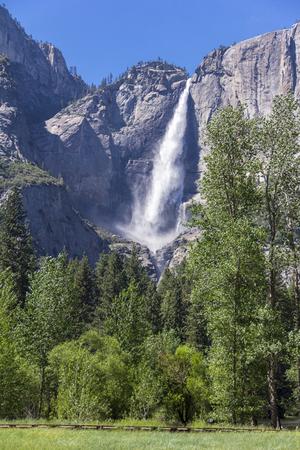 sierras: Upper Yosemite Falls. Yosemite National Park, CA