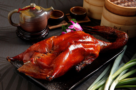 Peking Duck with Tea , Traditional Chinese cuisine Reklamní fotografie