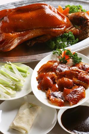 북경 오리, 중국의 가장 유명한 요리 스톡 콘텐츠
