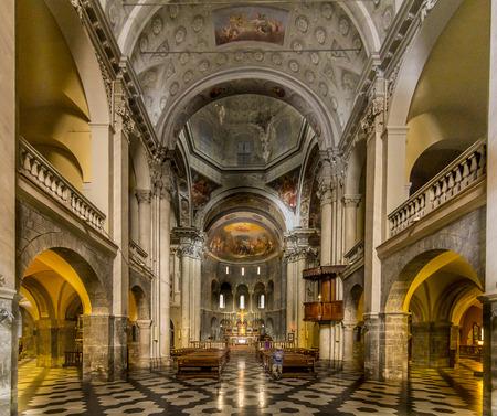 Inside Church of San Fedele, Como, Italy, 12th century