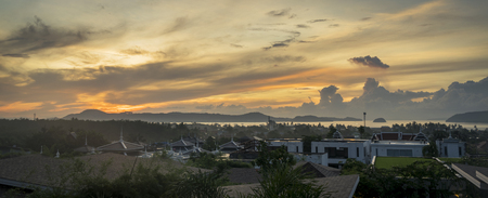 Beautiful Sunrise in Phuket, Thailand, a tropical country.