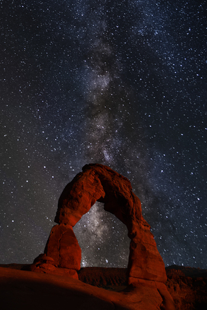 Summer Milky Way over Arches National Park