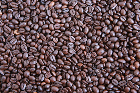 Close up of coffee beans