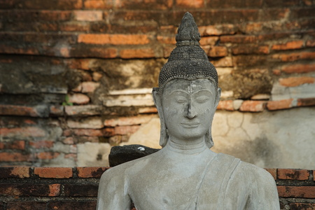 Thai ancient places in Ayutthaya for tourism 版權商用圖片
