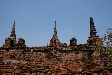 Remains of Buddhist remains that are still present in Ayutthaya.