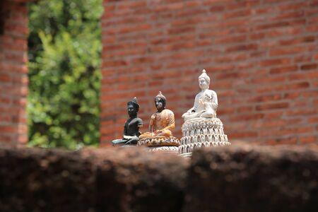 Thai Buddhist worship statue in Ayutthaya