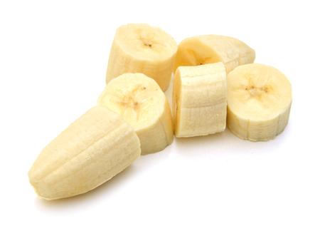 Sliced banana isolated on white Stok Fotoğraf - 96461846
