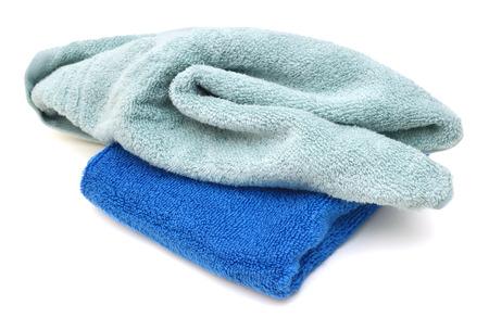 Bath towels on white background Stock Photo