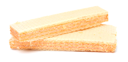 wafer sticks on white background
