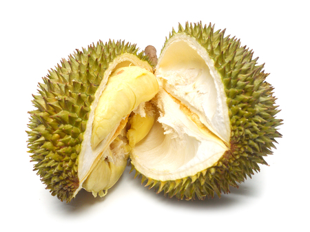 Durian isolated on white background Фото со стока