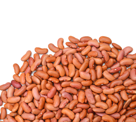 Small pile of Kidney Beans on White Background