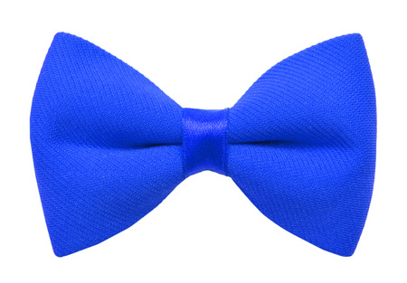 Blue bow tie isolated on white