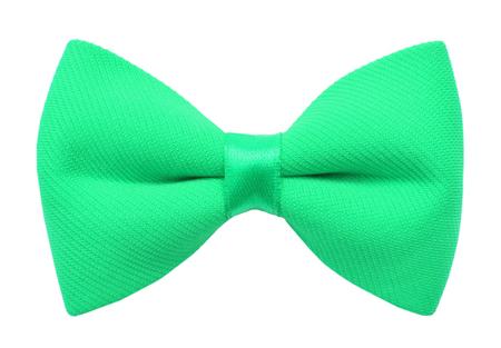 Green bow tie isolated on white Stockfoto